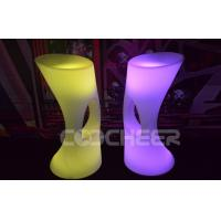 Quality PE Plastic Material Rechargeable Lighted Bar Stools Durable Modern for sale