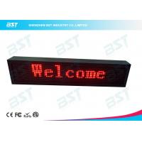 Buy Outdoor Waterproof Red Color LED Moving Sign Programmable 10mm Pixel pitch at wholesale prices