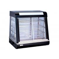China Electric Heating Cake Display Cabinet Counter Top 3-Layers Glass Food Warmer Showcase on sale