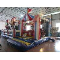 Quality Circus Clown Themed Inflatable Fun City For Multiplay 2 - 3 Years Warranty for sale