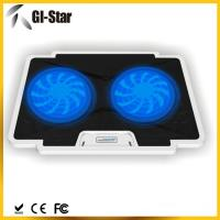 Quality 5 adjustable angles, 2 USB2.0 HUB, 2 fan ,Laptop coolers with different colors for sale