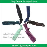 Quality Wholesale Fashion Knotted Glitter Elastic Hair Tie and Headband for sale
