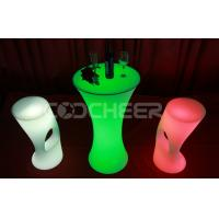 Quality Mordern PE Plastic Led Bar Stools Customized For Dining Room for sale