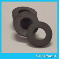 Y35 Grade Permanent Ferrite Ring Magnet SrO / Bao And Fe2O3 Material for sale