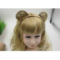 Quality Golden Glliter Mickey Bow Hair Bands Festival Hair Accessory for sale