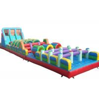 Buy Giant Bouncer Adults Inflatable Obstacle Courses Double And Quadruple Stitching at wholesale prices
