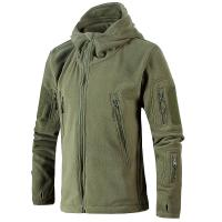 Quality Outdoor Autumn Mens Mountain Jacket , Multi Pocket Fleece Jacket With Hood for sale