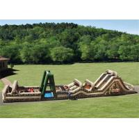 China Outdoor Inflatable Obstacle Course , Boot Camp Inflatable Outdoor Play Equipment on sale