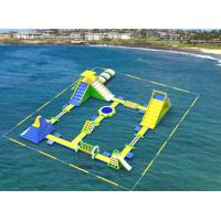 Buy cheap Giant Inflatable Floating Water Games /  Inflatable Aqua Park With Trampoline from wholesalers