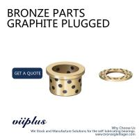 China Phosphor Bronze Graphite Plugged Bushings Cast Bronze Bearings Material on sale