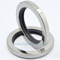China PTFE Oil Seals With Dual PTFE Sealing Lip Stainless Steel Housing Screw Compressor Oil Seals on sale