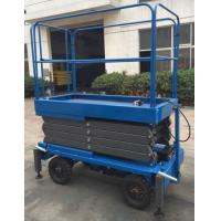Buy cheap 1000kg Mobile Scissor Lift Platform with Manual Pulling Handle 1T Hydraulic Lift from wholesalers
