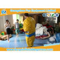 Buy 1.5m / 1.8m 0.4mm PVC Inflatable Sumo Wrestling Suit Yellow foam padded mattress for games at wholesale prices