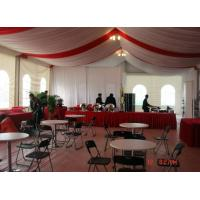 China Heavy Duty Ridge Wedding Party Tent Sidewall Curtain Two Years Warranty for sale