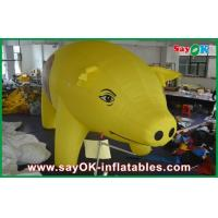 Quality Yellow Inflatable Outdoor Pig Cartoon Characters For Advertising for sale