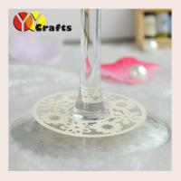 China Flowers Wine Claims Decoration For Engagement Wine Glass Bottom on sale