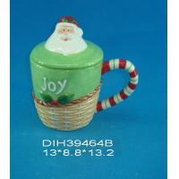 Quality Fashionable Xmas Custom Ceramic Mugs With Lid Personalised Santa Clause Cover for sale