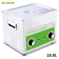 Quality Scientific Laboratory Ultrasonic Cleaner , Ultrasonic Cleaning Bath 10.8L with Heating for sale