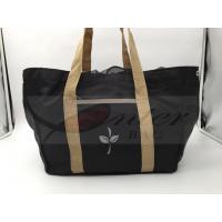 Quality Black 420D Polyester Reusable Folding Shopping Bags For Supermarket Shopping for sale