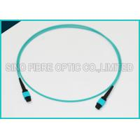 Buy 12 Chnnels MPO Fiber Optic Cable OM3 Plenum Jacket QSFP 40G SR4 Optical Cabling at wholesale prices