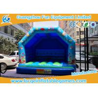 Quality Blue Small Bouncy Castle For Trampolines And Structures / Inflatable Jumping Castle for sale