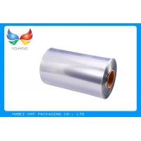 Quality 40 MIC Transparent Blown PVC Shrink Film For Shrink Sleeve Label for sale