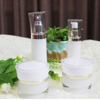Quality Luxury 20g White PET Airless Pump Travel Cream Jars With Lid for sale