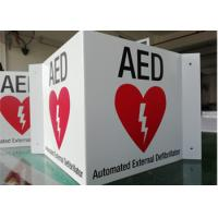 Quality 3 WAY AED ID Custom Printed Aluminum Signs 14X6X0.04 Wall Mounted Durable for sale