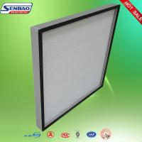 China Central Air Conditioner Fiberglass Pleated Panel Filters High Efficiency on sale