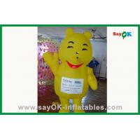 Quality Customized Inflatable Cartoon Characters Yellow Inflatable Bear For Water Park for sale