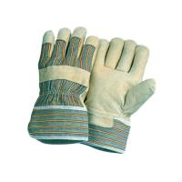 China 9 - 11 inch Stripe cotton back Grain heavy duty Industry Pig Leather Gloves / Glove 22002 on sale