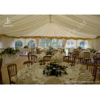 Quality White Fabric Cover Aluminum Profile Luxury Wedding Tents With Milk White Roof Lining for sale