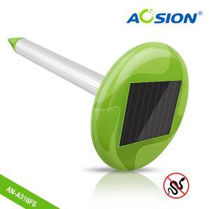 China Aosion Garden Solar Sonic Vibrating Mole Repeller With Garden Light on sale