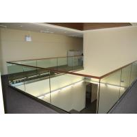 Quality Modern design aluminum u base channel glass railing for stairwell/ decking use for sale