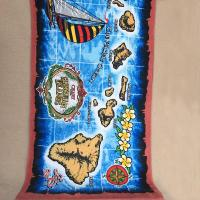 Buy cheap OEM Hawaii Design Islands Printed Beach Towels Marine Styles With 10 Colors from wholesalers