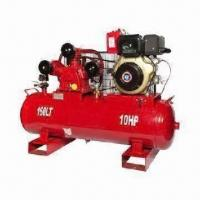 Quality Heavy-duty Air Compressor with BW75 Pump, Diesel Engine of 10.0HP and 160L Tank Capacity, EPA Engine for sale