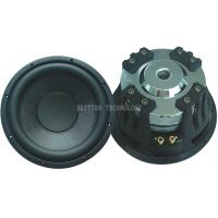 Black 12 Inch Car Subwoofer Speaker 600 Watts Fiberglass Cone With 65mm Voice Coil for sale