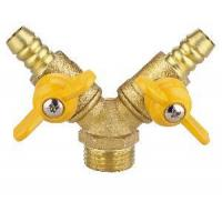 Quality Double-Fork Male Thread Brass Gas Valve (SS9020) for sale