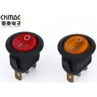 Quality Illuminated LED Round Rocker Switch 220V / 110V Kcd1 - 106 T85 Pa66 10000 Cycles for sale