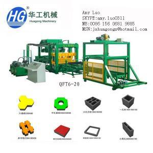 China QFT6-20 High speed with reasonable price brick making machine in China,pavers block making machine on sale