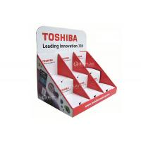 China Toshiba Retail Countertop Displays , Corrugated 3 Tiers Pop Counter Displays Unit on sale