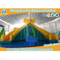 Quality Huge Commercial Inflatable Slide Cartoon Obstacle Course Water Slide For Kids for sale