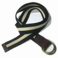 Cotton Fabric Webbing Belt in Various Color, Metal in Anti Brass for sale