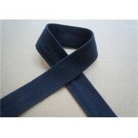 Quality Blue Printed Elastic Webbing Straps Single Fold 2 Cm Width For Bags for sale