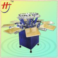 Quality HS-1128 manual 8 stations 8 color t shirt printing machine for sale