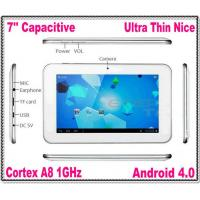 China Capacitive Screen 7 Inch Android 4.0 Tablet PC Allwinner A13 CPU Cortex A8 1GHz WiFi Support External 3G Modem on sale