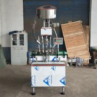 Quality Automatic Single Head Glass Bottle Aluminium Cap Screw Capping Machine for sale
