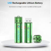 China wholesale 1.5V 1000mAh AA USB type lithium ion battery replace for alkaline batteries