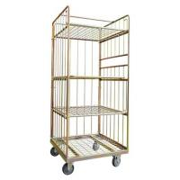 Buy cheap Strong Reinforced Laundry Cage Trolley Bright Electro Zinc Plated Finish from wholesalers