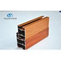 Quality Nature Polishing Custom Aluminum Extrusion Sliding Door Frames Wood Grain Cutting for sale